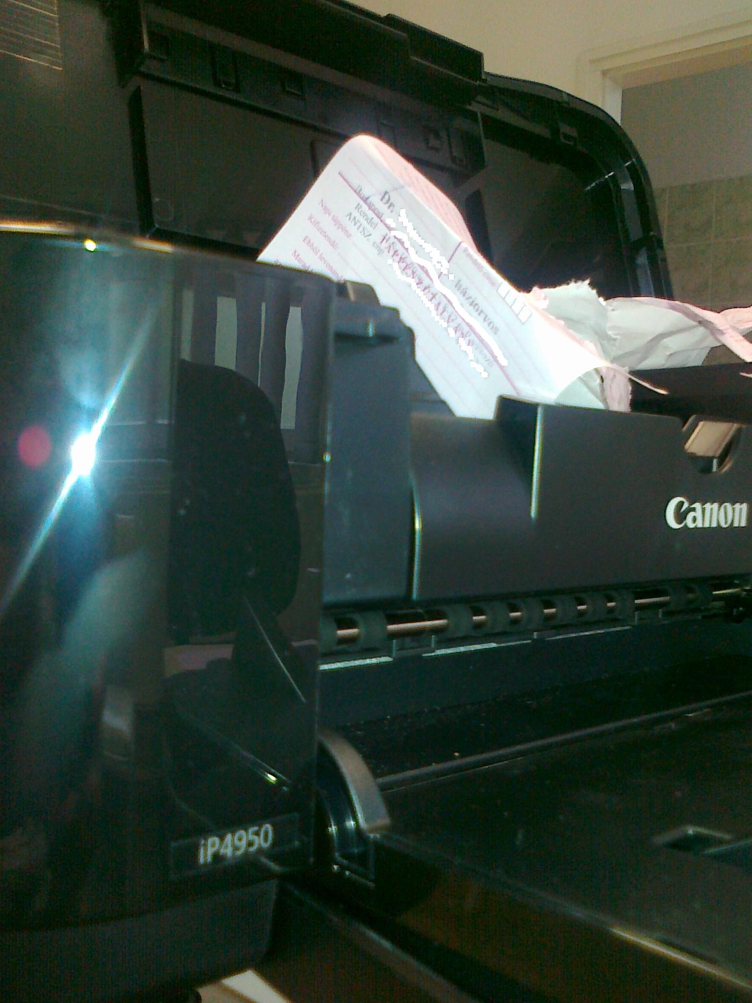 Canon PIXMA IP4950 gyorstesztje orvosi rendelőben