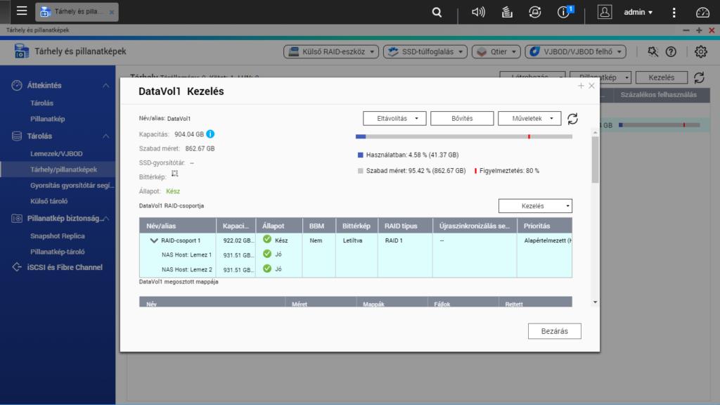 RAID 1 migrálása RAID 5-re, adatvesztés nélkül | QNAP NAS